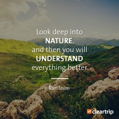 """""""Look deep into nature, and then you will understand everything better."""" —Albert Einstein #EarthDay #CTQuotes"""