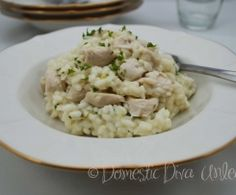 Recipe Creamy Garlic Chicken Risotto by Rona, learn to make this recipe easily in your kitchen machine and discover other Thermomix recipes in Pasta & rice dishes. Lunch Recipes, Meat Recipes, Salad Recipes, Cooking Recipes, Healthy Recipes, Healthy Meals, Recipies, Savoury Recipes, Savoury Dishes