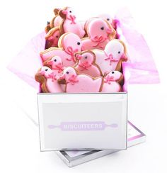Pink chicky new baby biscuits <3 SO CUTE. Someone have a baby so I can buy you these (and steal one... or three...)
