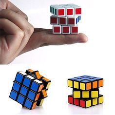 2x-Mini-3x3x3-Ultra-smooth-Speed-Cube-Puzzle-Twist-Kids-Gift-Toy-Game-Education