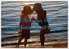 60 Activities For Your Homeschool Group - ideas for group activities and field trips www.homemakingwithheart.com