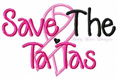 Save the Ta Tas applique design Instant by BabyLoveEmbroidery, $3.50