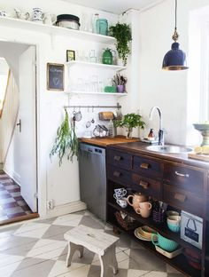 Kitchen in a charming home in Sweden