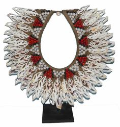 A Very Beautiful Tribal Cut Shell and Seed Necklace from Papua new Guinea | eBay