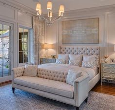 50 awesome master luxurious bedrooms idea on a budget 33 - Home Decor Interior Master Bedroom Design, Dream Bedroom, Home Decor Bedroom, Romantic Master Bedroom Ideas, Luxury Master Bedroom, Bedroom With Couch, Bedroom Designs, Modern Bedroom, Master Bedroom Furniture Ideas
