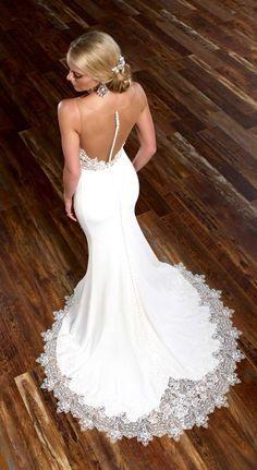 Martina Liana gorgeous lace on bottom of dress