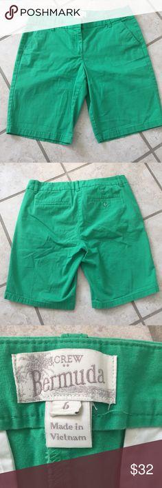 J. Crew green bermuda shorts, size 6 J. Crew green bermuda shorts, size 6 J. Crew Shorts Bermudas