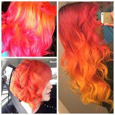 Sunset Orange, Fuchsia and Sunshine Yellow
