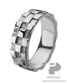 Bosovi Deisgner Ring - Mens Sterling Silver 0.18ctw ...