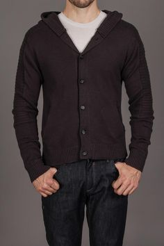 Darring Bonneville Hooded Button Down Sweater