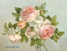 vintage graphics  | placemats.com | Pimpernel Antique Rose Placemats | Pimpernel Placemats ...