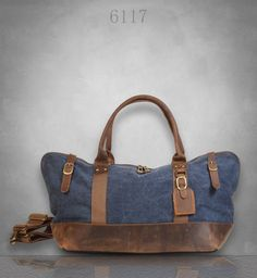 New Genuine Leather and Canvas Messenger Bag Duffel by EAZObyZiJun Canvas Messenger  Bag a9a95ca44a478