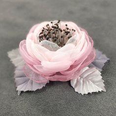 Buy Morning Powder. Brooch - fabric flower on Livemaster online shop