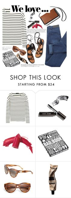 """""""Untitled #296 (Top Set #25)"""" by poppynight ❤ liked on Polyvore featuring J.Crew, Bobbi Brown Cosmetics, Elizabeth Arden, Nuuna, Rosetta Getty, MCM, Hedi Slimane and Aromatique"""