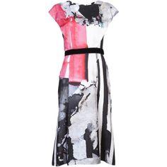 CAROLINA HERRERA Canvas poster print dress ($2,375) ❤ liked on Polyvore