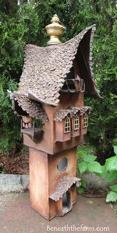 Fairy gardens house miniature scale tower by beneath the ferns three - My site Mini Fairy Garden, Fairy Garden Houses, Gnome Garden, Clay Fairy House, Gnome House, Clay Fairies, Fairy Doors, Miniature Fairy Gardens, Fairy Art