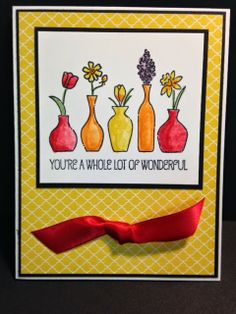 Vivid Vases, Stampin' Up!, Rubber Stamping, Handmade Cards