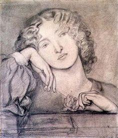 Pre Raphaelite Art: Dante Gabriel Rossetti - Monna Rosa