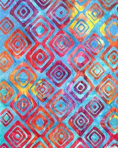 Graphic Elements 2 - Diamond Dance Batik - Azure Blue