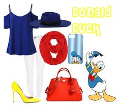 """""""donald duck"""" by sjones14 ❤ liked on Polyvore featuring Gianvito Rossi, Coach, MANGO, disney and disneycharacter"""
