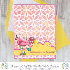 This project uses the Caffeinated- Flamingo and Diamond Flower stencil by The Rabbit Hole Designs, LLC. Check out my Instagram for more details and more inspiration!