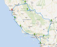 Kompakte Rundreise Westküste USA: hier findet Ihr kurze und lange Reiserouten in Kalifornien...