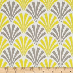 Designed for Camelot Design Studio, this fabric is perfect for quilting, apparel and home décor accents.  Colors include yellow, grey and white.