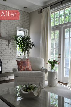 amazing fireplace and love the plant