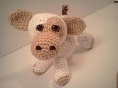 Ravelry: Emma Baby Cow Ami'Pal Amigurumi Stuffed Calf pattern by Mary Walker
