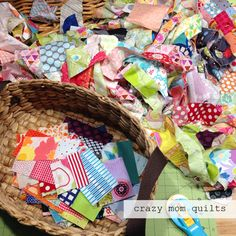 crazy mom quilts: scrap vortex QAL--week one
