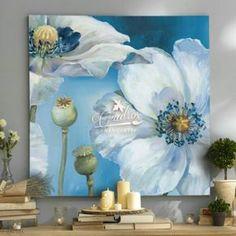 Flores Geranios de Luna - Cuadros Decorativos al Óleo