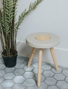 concrete wood stool house pinterest holz beton diy und diy m bel. Black Bedroom Furniture Sets. Home Design Ideas
