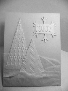 Trees in Texture by amymay998 - Cards and Paper Crafts at Splitcoaststampers