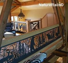 Custom balcony and stair #railing.  A functional work of art that never needs painting because it is made from durable powder coated steel. See more photos at www.NatureRails.com.