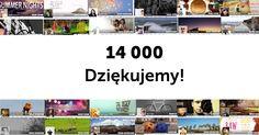 14 000 fanów na Facebooku. 29-09-2014. Dziękujemy! #Socjomania