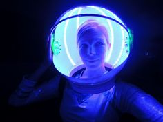 Perfect for an astronaut costume, or to bring to Burning Man, or your next dance party!