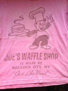 Retro Vintage Style T-shirt JOE'S WAFFLE SHOP by Made U Look