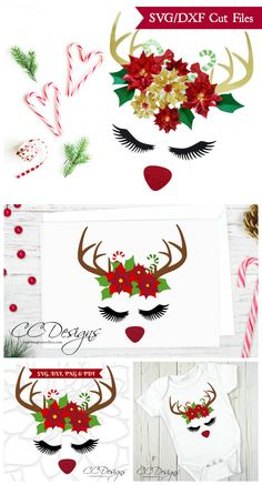 Rudolph the red nose reindeer svg Christmas cut files. Free SVGs for Cricut and Silhouette Rudolph Christmas, Merry Christmas, Christmas Deer, Christmas Tattoo, Christmas Poinsettia, Christmas Parties, Christmas Ornaments, Christmas 2019, Christmas Sweaters