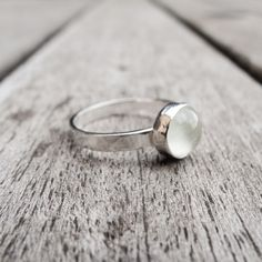 Beautiful Moonstone set in Sterling Silver and made to order in your size