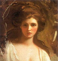 George Romney - Study of Emma Hart as Circe, 1782