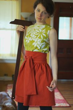 apron pattern, but I like the waist - make into a skirt