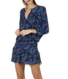 Place des tendances robe bleu
