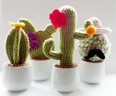 (4) Name: 'Crocheting : Crochet Cactus Family (4 Patterns)