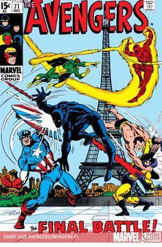 """Los Vengadores contra los Invasores """"Sabes en que pienso Panterita? Que si mi escudo fuera redondo te lo podría haber lanzado, en lugar de ensuciarme las  manos contigo"""""""