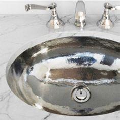 Hammered Nickel Sink Finishes Pinterest Sinks Powder Room - Hammered silver bathroom sink for bathroom decor ideas