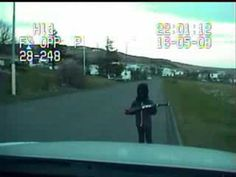 Kid almost shoots up a police car in Iceland https://www.youtube.com/watch?v=0SwT0pCnAyo