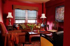 Ruby red living room