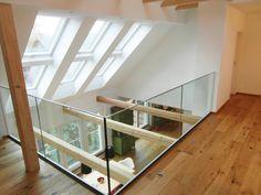 Galerie: flur & diele von cactus architekten,modern - New Ideas Attic Rooms, Attic Spaces, Attic Loft, Attic Playroom, Attic Ladder, Residential Architecture, Interior Architecture, Modern Hallway, White Hallway