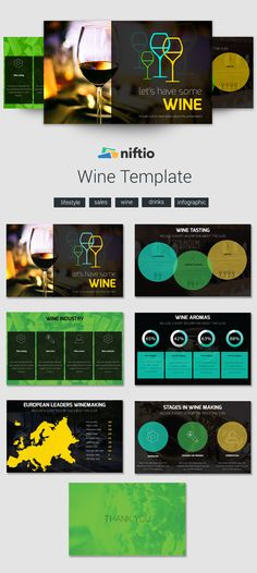 Niftio's lifestyle presentation templates cover a wide range of interests like travel, fashion, cooking, photography and much more. Share your lifestyle! Wine Making, Wine Drinks, Presentation Templates, Infographic, Layout, Passion, Craft Ideas, Lifestyle, How To Make