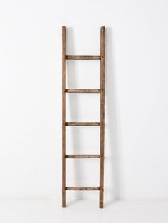 Your place to buy and sell all things handmade Wood Ladder, Ladder Decor, Blanket Ladder, Hanging Towels, Metal Bar, How To Antique Wood, Antiques, Mocha Chocolate, Handmade